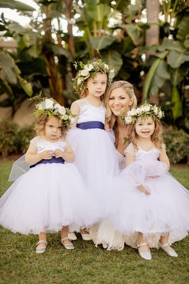 Cute flower girls white flower girl dress blue sash flower crown houston astros gerrit cole