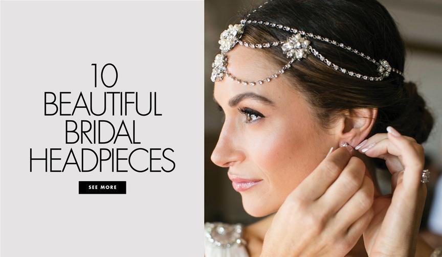 10 beautiful bridal headpieces hair accessories real wedding bride jewelry hair modern vintage