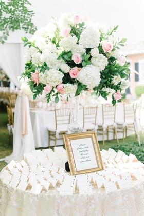 classic escort card display gold details south carolina wedding reception frame feminine colors