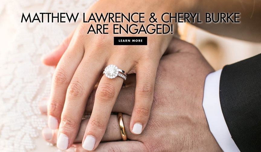 cheryl burke and matthew lawrence engaged, round diamond halo engagement ring