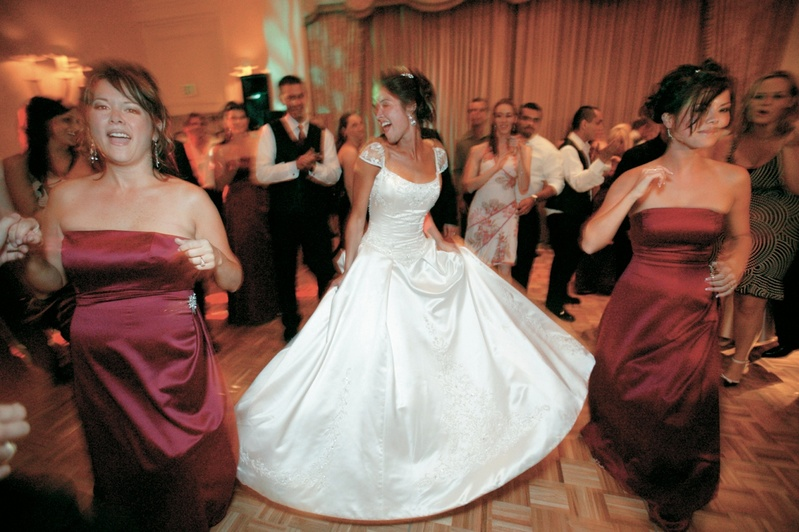 Eve of Milady wedding dress at reception