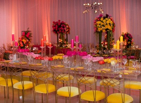 wedding reception ballroom yellow velvet chairs gold back chameleon chair collection lucite table