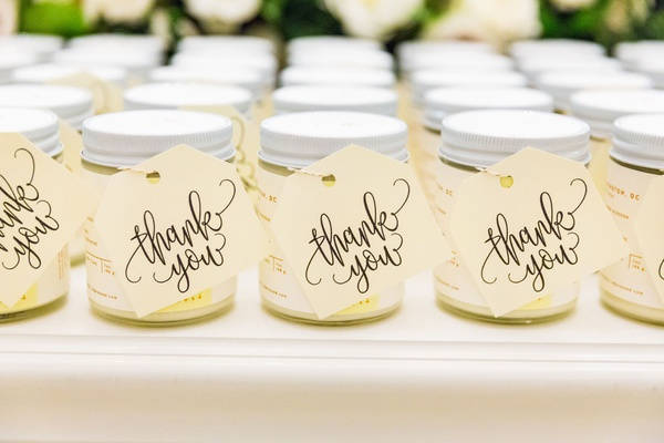wedding reception favors washington dc candles 42 pressed thank you calligraphy tag