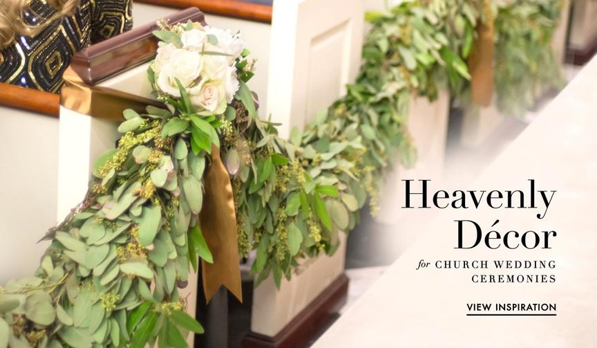 Wedding ceremony decorations for church ceremonies