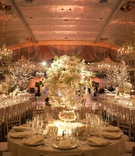 The Pierre wedding reception with tree centerpieces
