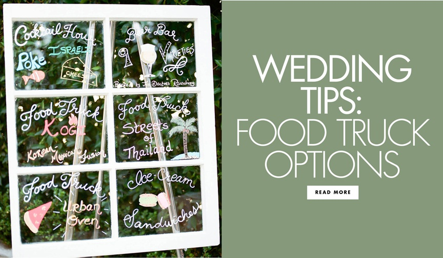 Wedding tips food truck options food truck wedding trend ideas