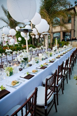 Beach wedding reception table decorations