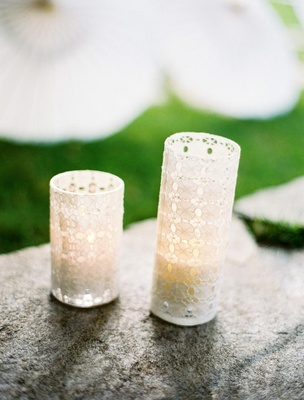 Hurricanes wrapped in white lace for a wedding