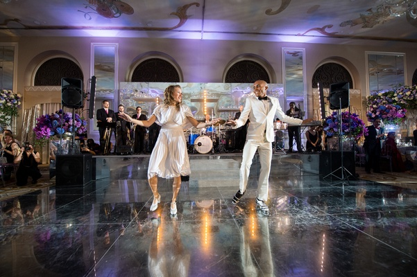 rhythmic souls tap company, tap dancers at wedding reception