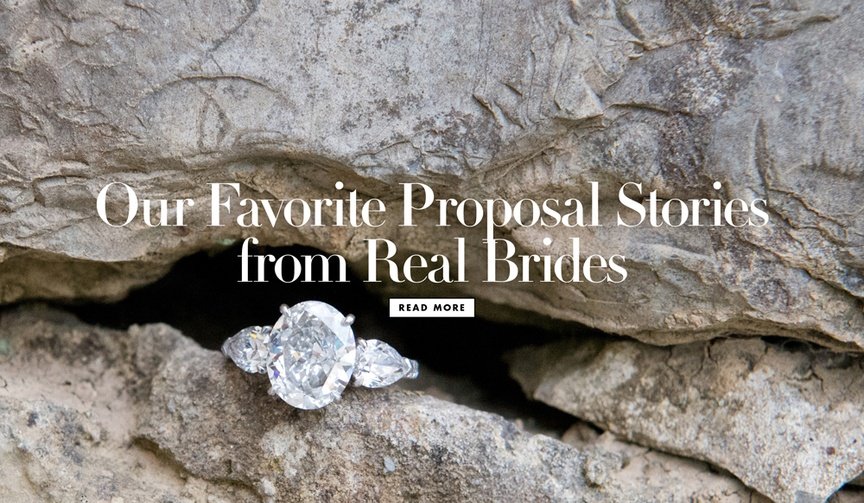 Our favorite proposal stories from real brides and grooms real weddings