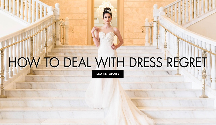 Find out what to do if you're second-guessing your wedding dress.