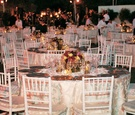 Table décor for backyard wedding