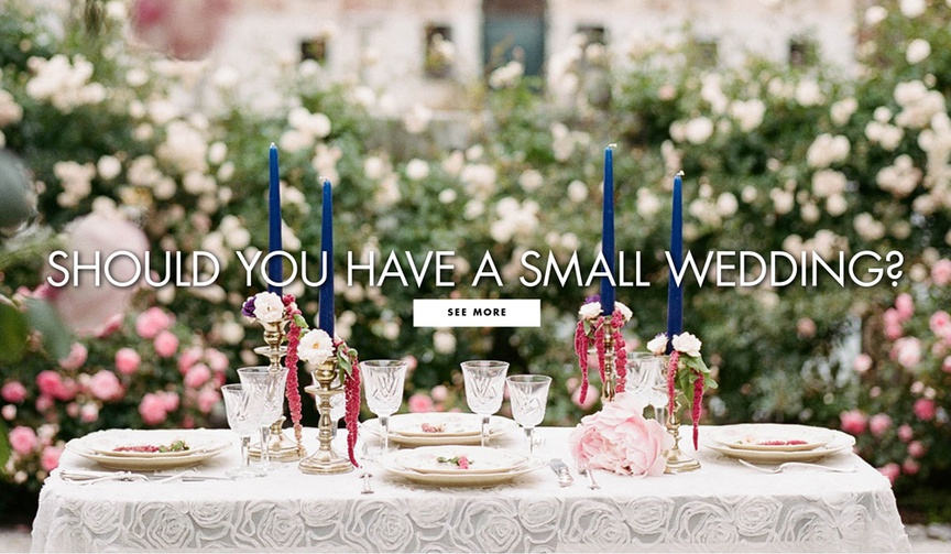 Should you have a small wedding benefits to hosting an intimate wedding