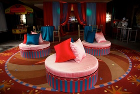 Wedding after-party with a colorful circus theme