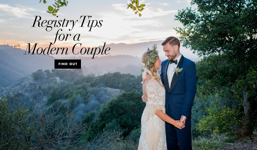 Modern registry dos and don'ts for contemporary couples