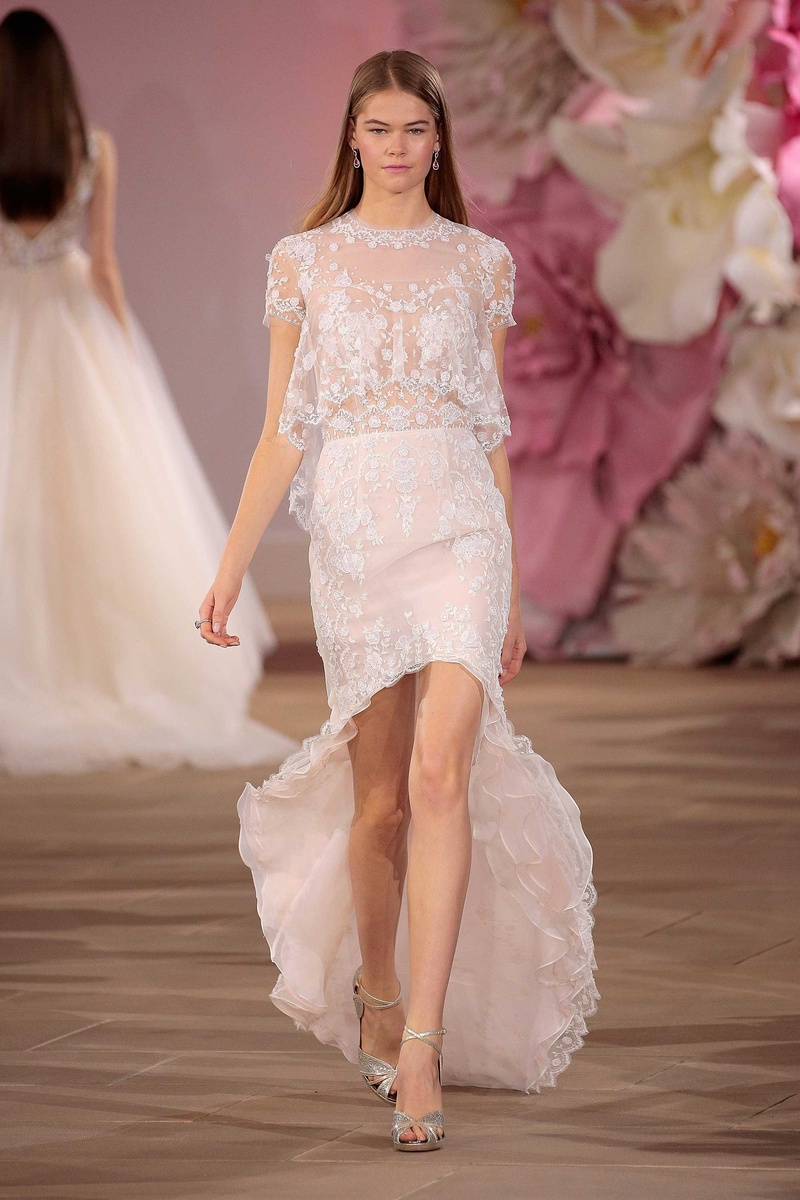 high low wedding dress Ines Di Santo Couture Bridal Collection Spring Summer Affection high low wedding dress bolero