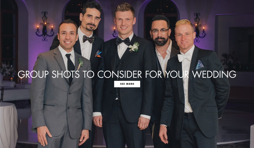 Group shots with guests to consider for your wedding day