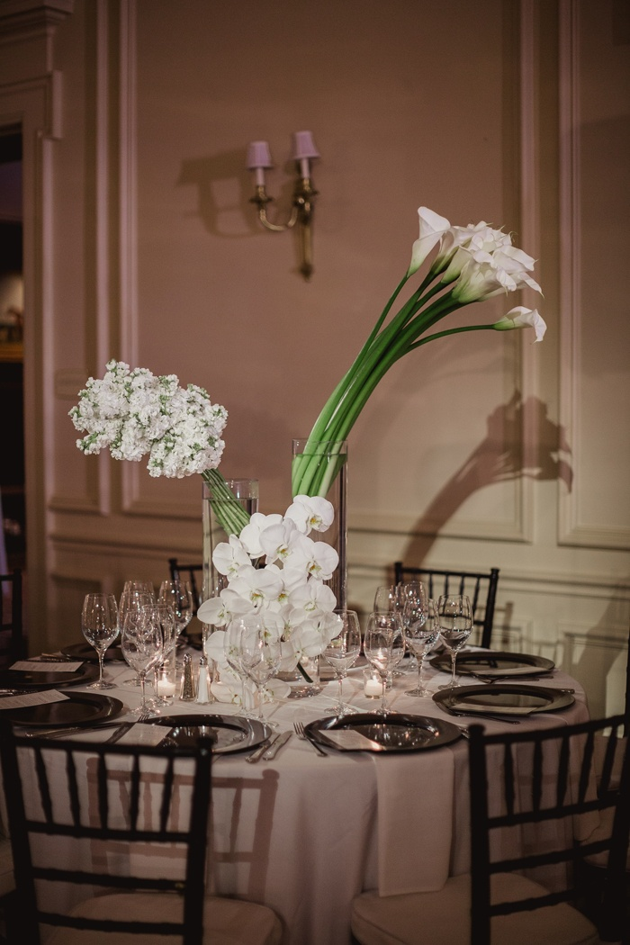 Reception Dcor Photos Centerpiece Of Calla Lilies Orchids And