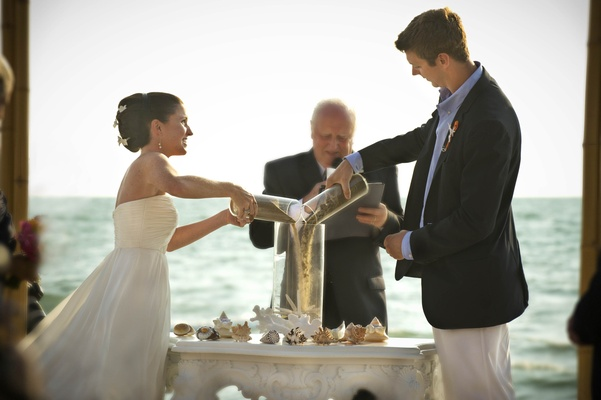 Citrus-Colored Beach Wedding In Naples, Florida