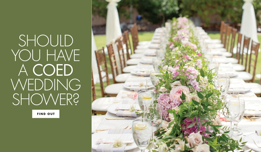 Should you have a coed wedding shower bridal shower alternatives for both parts of couple