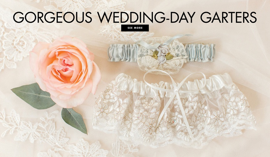 Be inspired by these garters worn by real brides.