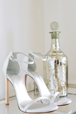 Bride wedding shoes by Stuart Weitzman