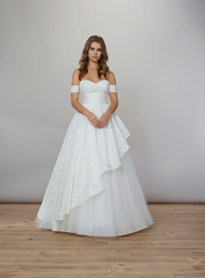 Liancarlo Spring 2020 bridal collection wedding dress ball gown off shoulder straps silk organza
