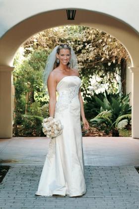Bridal portrait at Bacara Resort in Santa Barbara