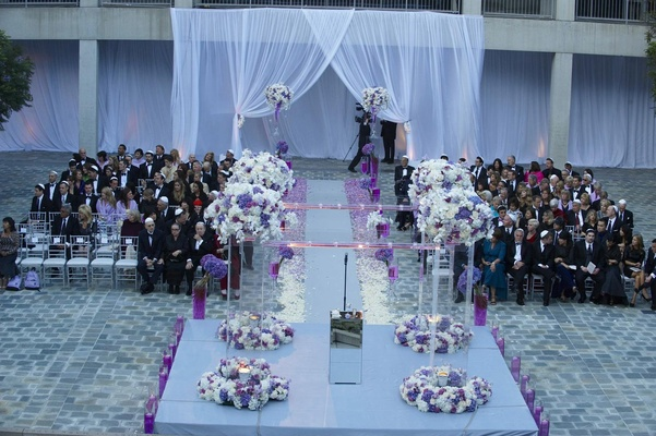 Glam Modern Wedding with Purple Décor in Los Angeles, California ...