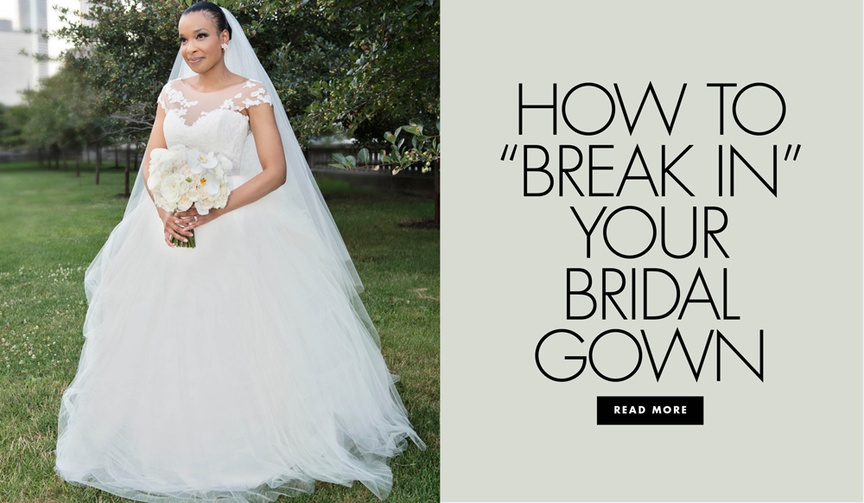 why you should wear your wedding dress before the wedding