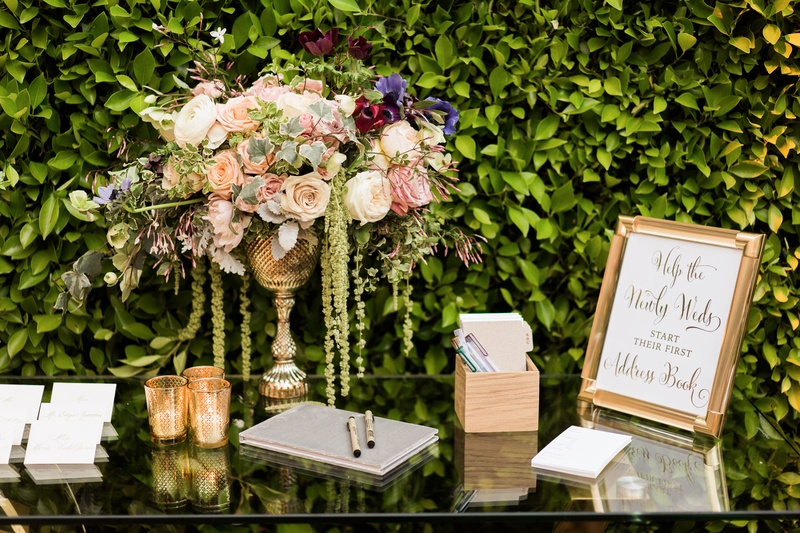reception décor photos address book station at reception inside