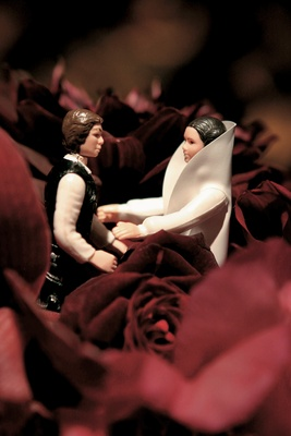 han solo and leia cake toppers