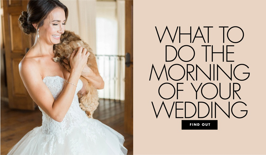 what to do the morning of your wedding day