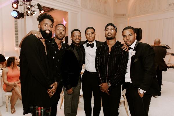 """r&b singer durrell """"tank"""" babbs & zena foster wedding, michael b. jordan wedding guest"""