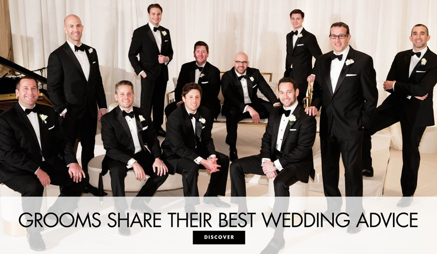 20 real grooms share their best wedding advice for other grooms and couples