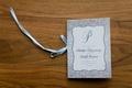 wedding ceremony program light blue silver white design elizabeth grace