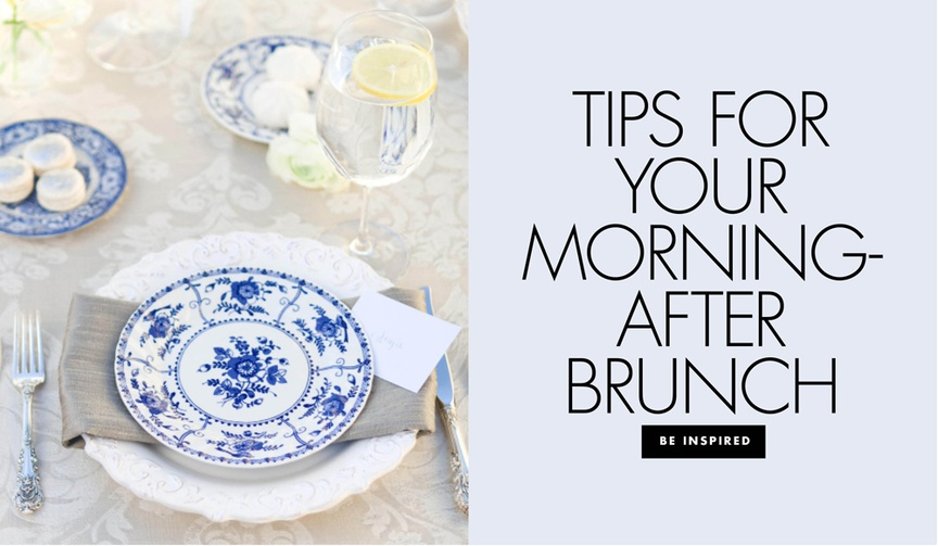 tips for a post-wedding brunch, morning-after brunch wedding weekend tips