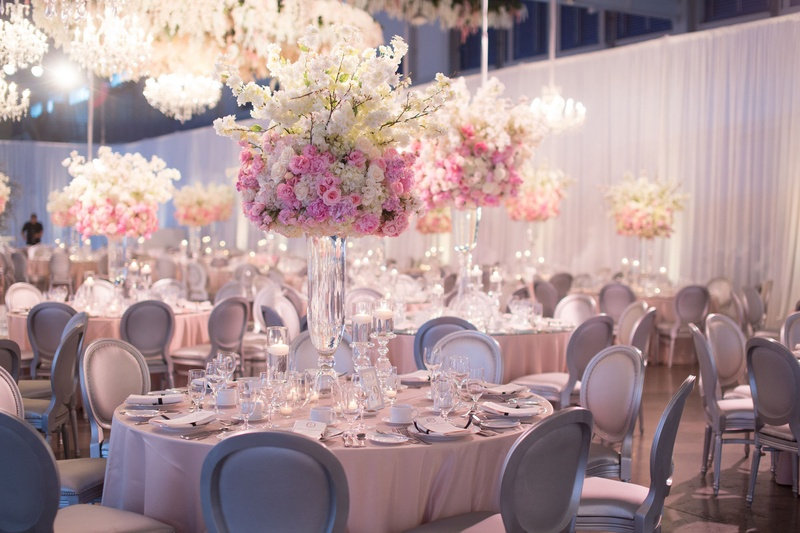 Reception D 233 Cor Photos Pink Ivory And Silver Reception