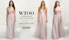 Wtoo Bridesmaids long Grecian style bridesmaid dresses