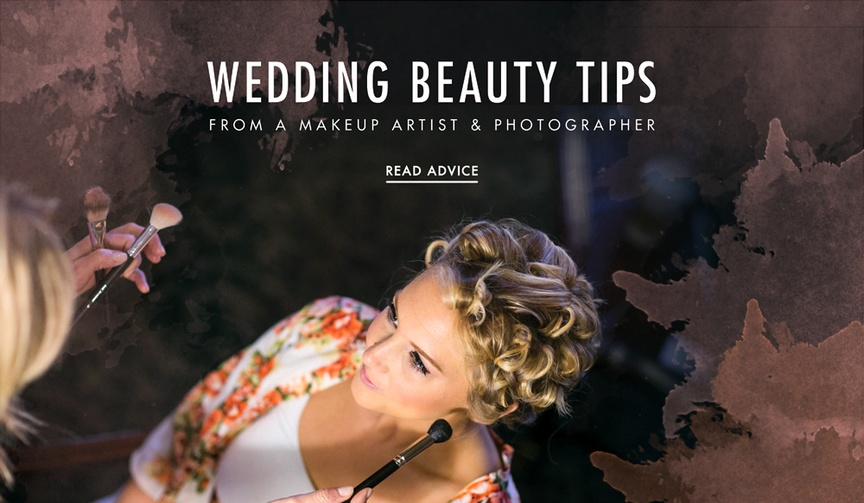Wedding makeup beauty tips from photographer and makeup artist