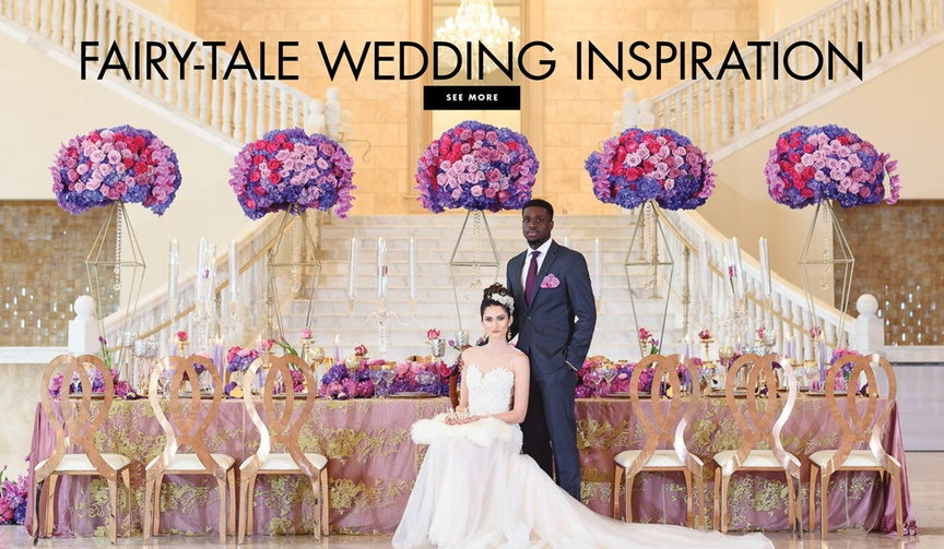 See more from this inspired wedding shoot featuring a bold purple color palette.