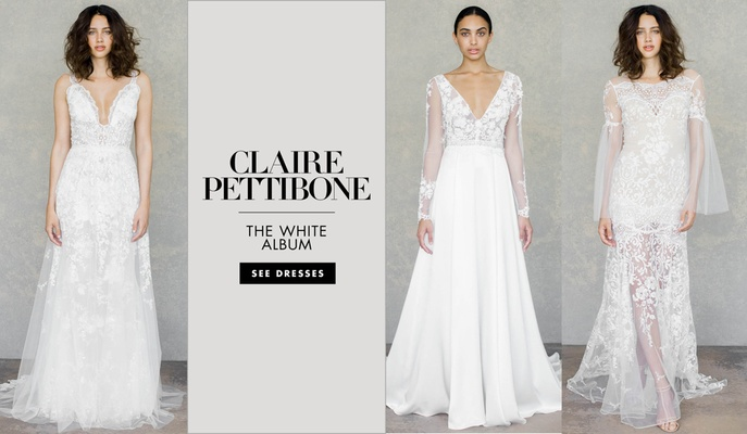 Bridal fashion week claire pettibone spring 2019 inside weddings see the latest dresses from the designers romantique and couture collections claire pettibone wedding dresses spring 2019 junglespirit Images