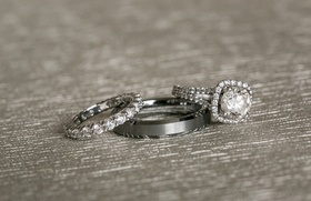 diamond encrusted bridal band engagement ring three jewelry pieces classic wedding mens womens