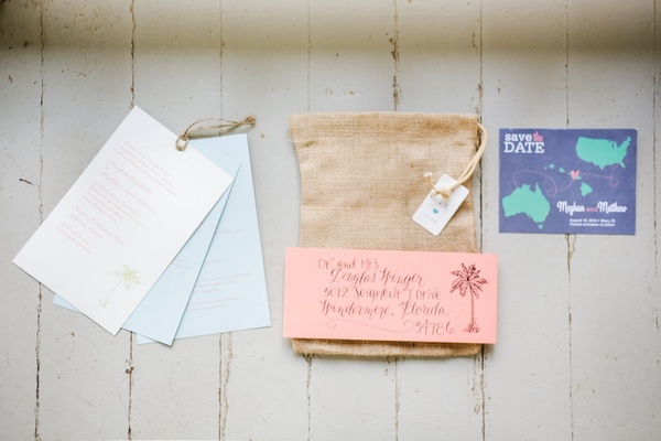 invitations and save the dates for destination wedding