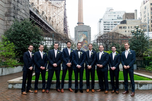 Groomsmen in suits groom in velvet dress shoes groomsmen in brown dress shoes new york city