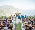 Wedding ceremony in Ravello Italy overlooking Amalfi Coast italian wedding destination simple ceremo