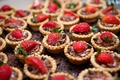 chocolate and peanut butter tarts strawberries appetizers desert