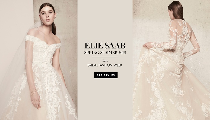 elie saab spring summer 2018 collection wedding dresses bridal designer floral springtime tulle