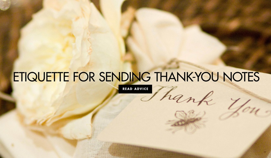 Wedding etiquette for sending thank you notes