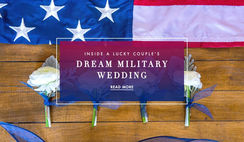 Military wedding fourth of july details